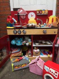 Children's JL wooden kitchen with lots of accessories!