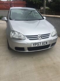 Mark 5 VW golf 2008 Match, 1.9 tdi. Low miles, FSH, HPI clear. (not bmw,audi,seat,mercedes)