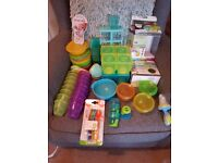 Baby Weaning, bowls, containers, feeding spoons