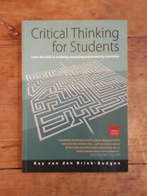 CRITICAL THINKING FOR STUDENTS - Roy van den Brink Budgen