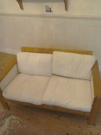 Small wooden sofa