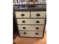 Annie Sloan Shabby Chic Painted Solid Drawers - UK Delivery