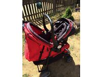 City bug will car seat and rain cover all good condition car seat go on the pushchair