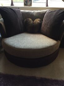 DFS 2 seater sofa and cuddle chair