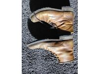 Quality Brown Leather Boots - Size 9/43 - Original price £90, selling for £40