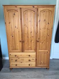 3 x Bedroom set - Wardrobe and 2 cabinets