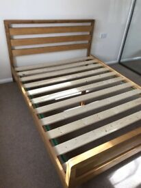 King size bed frame pine