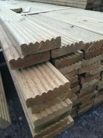 Decking boards 4.8m long x 120mm x 32mm ( fencing boards, timer, fence posts 2x4 off saw 4 2 cls 6