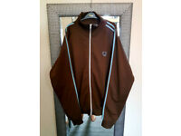 Retro Vintage Original Fred Perry Track Top Large