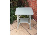 Painted bamboo table