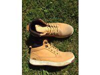 steel toecap, trainer style boots, size 9