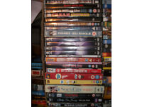 LARGE BOX OF 71 DVDs INCLUDING 13 BOXSETS