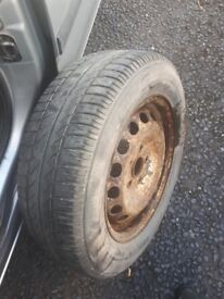 Vw caddy spare wheel an tyre