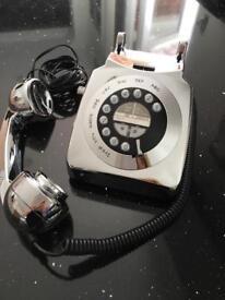 Retro Style Silver Telephone