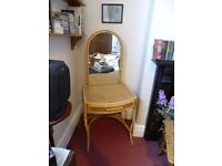 Lovely Rattan Dressing Table - suitable for bedroom or large hallway