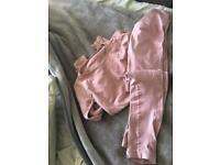 Pink gym set £15 and black set if brought together £20 for both sets