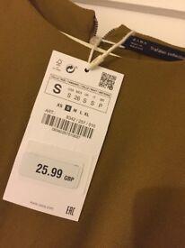 Zara dress size small with label - never worn