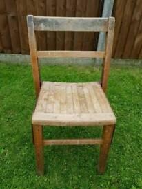 Children's wood chair