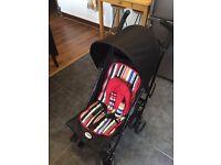 good condition black stroller