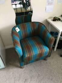 Vegas Modern Tub Arm Chair