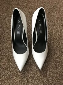 White heels from Aldo