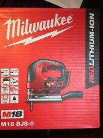 Milwaukee jigsaw brand new body only