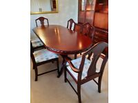 Dining Room Set - Table, 6 Chairs & Display Unit