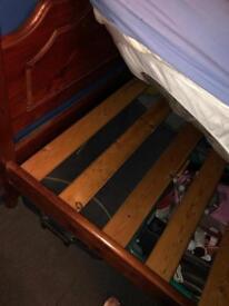 SOLID MAHOGANY SINGLE BED