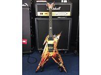 | BARGAIN £350| Dean Dimebag Razorback Explosion Guitar with hard Case