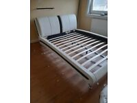 cream king size bed frame