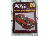 Toyota Avensis workshop Manual