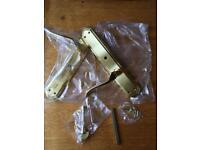 Polished brass lytham lever bathroom door handles