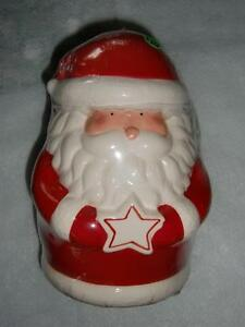 Santa Claus Ceramic Christmas Cookie Jar - Brand New