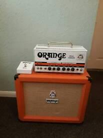 Orange Dual Terror guitar amplifier amp head and Pcp 1x12 cab