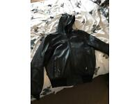 Leather men's coat