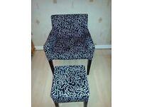 Ikea Nils Arm Chair & Footstool