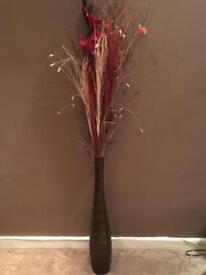 Glass vase floral display