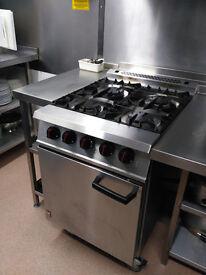 Falcon Dominator Oven Model G2161 4 Burner Open Top Range, durable, powerful catering equipment