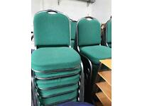 Stackable Green Chairs (90 in stock)