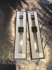 2 custom made apple watch straps for sale. Make a lovely gift.