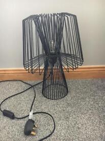 Black wire lamp