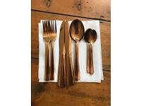 Rose Gold Slater 16 piece cutlery