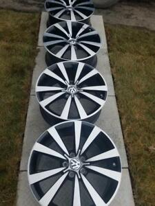 LIKE NEW VOLKSWAGEN JETTA / GOLF / BEETLE  FACTORY OEM 19 INCH ALLOY WHEEL SET OF FOUR.