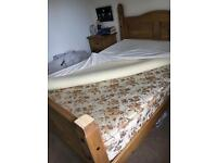 Double mattress and memory foam topper
