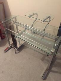 Belgica Glass desk - immaculate condition