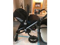Silver Cross Surf 2 Travel System Pram, Carseat and ISO Fix Base Bundle