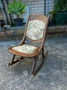 VINTAGE TAPESTRY FOLDING ROCKING CHAIR Eastwood Ryde Area Preview