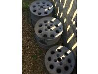"5 x FORD Sierras XR4i Pepperpot Alloys Wheels 13"""