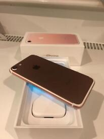 MINT IPhone 7 Rose Gold 128Gb Unlocked (Can Deliver)