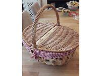 Wicker Picnic Basket - Never Used!
